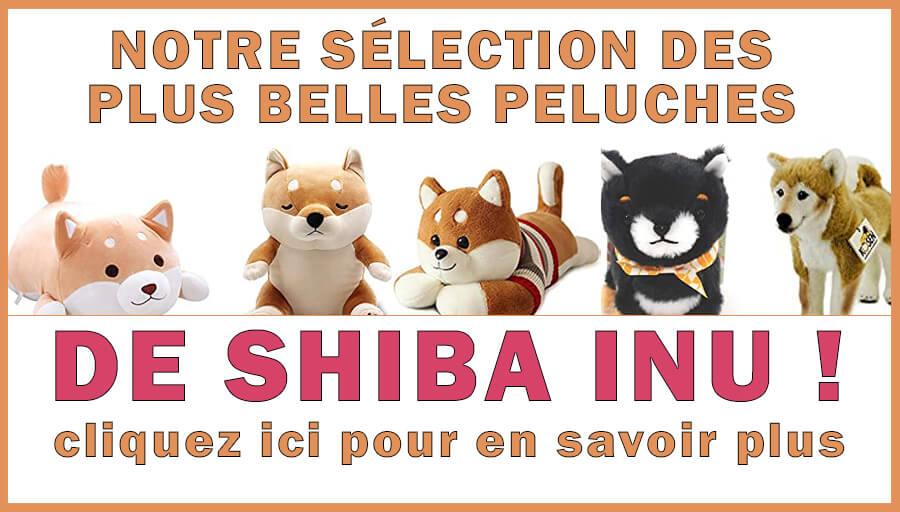 Séléction de peluches Shiba Inu